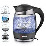 iBigBuy - Mueller Ultra Cordless Electric Kettle Fast Boiling Glass Tea, Coffee Pot 1.8 Liter Cordless with LED Light Inside High Quality Borosilicate Glass BPA-Free