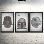 iBigBuy - Star Wars Word Art Print Three Set - 11x17