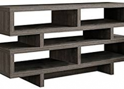 Monarch Specialties I 2462, TV Console, Dark Taupe Reclaimed-Look, 48″L