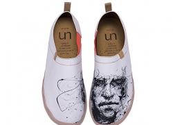 UIN Men's Silent Man Series Canvas Slip-On Shoe White Color
